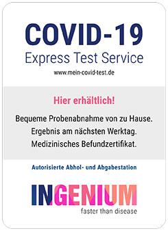 PCR-Express-Test bei uns erhältlich